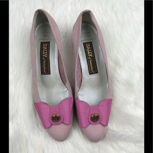 Bally of Switzerland Pink Emily Ballet Bow Size 8